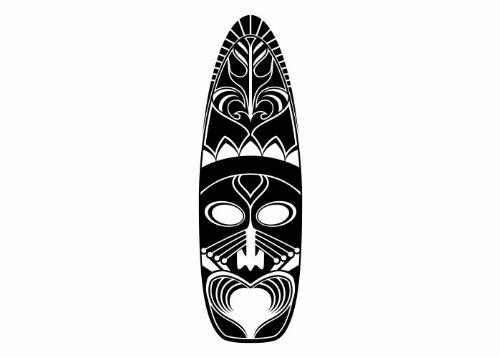 Wandtattooladen Wandtattoo - Maori - Maske 5 Größe:44x140cm Farbe: schwarz
