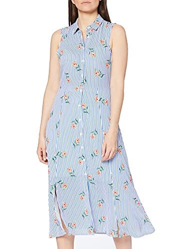 Koton damska sukienka koszuli z paskami i nadrukiem kwiatowym