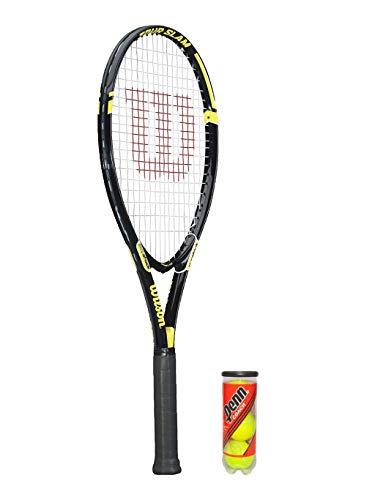 Wilson Tour Slam - Raqueta de tenis y 3 pelotas de tenis