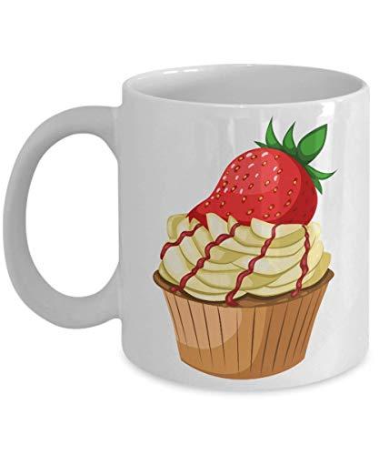 Taza t cermica uso prolongado pastel Fun Food Disfraz Frosting Sprinkles Taza bebida caf Regalo
