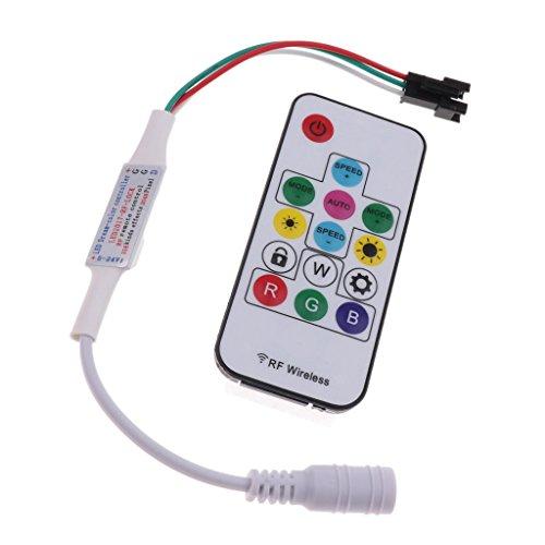 Sharplace Contrôleur RF Infrarouge de Bandes LED RGB W à300 Effets de Luminosité Pour Projecteurs,Downlights Décoration Piscines Jardins 5-24v