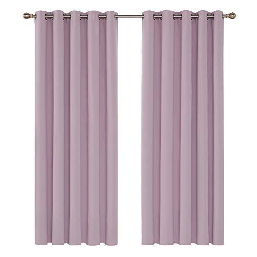 cortinas opacas 2 piezas lilas