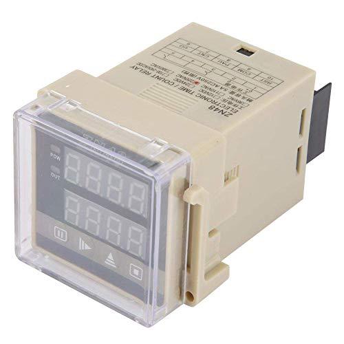Relé de tiempo digital, ZN48 Contador de relé de tiempo digital Multifunción Velocidades de rotación Medidor de frecuencia AC220V