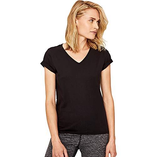 Lolë Repose T-Shirt à Manches Courtes pour Femme XS Noir (Black)
