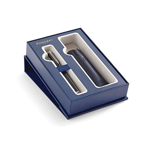 Letra inicial de Waterman grabada en el clip Plumín inconfundible y grabado por manos expertas Producto fabricado en Francia y montado a mano Se presenta en un estuche de regalo de Waterman de lujo