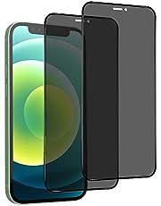 Privacy Screen Protector voor iPhone 12 Pro Max 6.7, [[2 stuks]] Anti-Spy Gehard Glass Film, [Anti-Scratch, Case-Friendly] Screen Protector