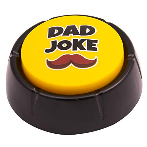 Dad Joke Button | A Gift for Fathers with 50+ Funny Dad Jokes | Novelty Talking Button Present