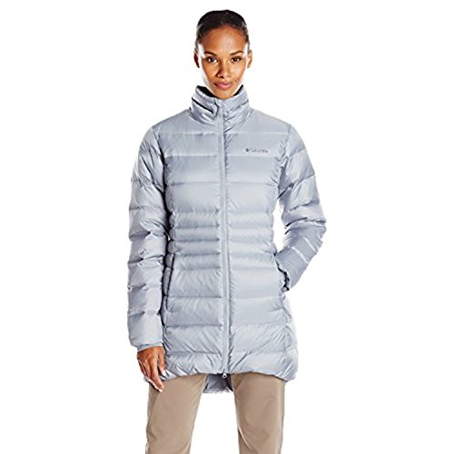 Columbia Sportswear Damen Hellfire Mid Down Jacke, Tradewinds Grey, XS
