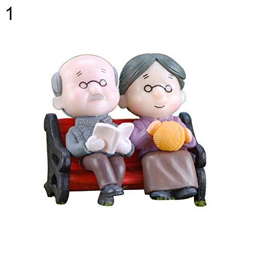 little finger Petit Banc de Parc Miniature pour Grand-père et Grand-mère, Plastique, Couleur 1#, 1#