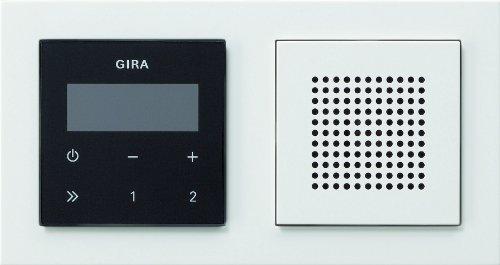 Gira 049572 Unterputz Radio RDS mit E2 Rahmen Gira E2, weiß / schwarz