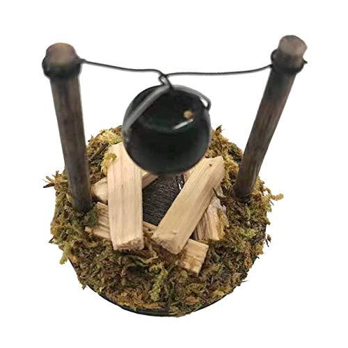 Milageto 1:12 Stufa a Legna Bruciatore Tradizionale Mobili in Miniatura per Casa delle Bambole Giocattoli per Bambini