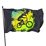 BMX Bike Protection Garden Flags 3 X 5 in Indoor&Outdoor Decorative Home Fall Flags Holiday Decor Garden Banner