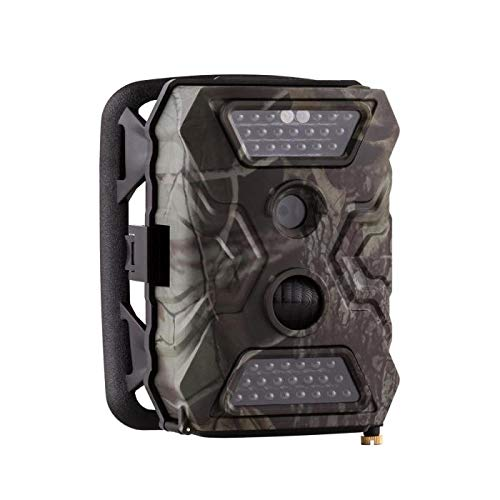 Duramaxx Grizzly Mini Wildkamera - Fotofalle, Outdoor-Tarnkamera, 40 Black LEDs, 12 Megapixel, Full HD, USB, SD, Serienbildaufnahme, 5 cm (2'')-LCD-Display, Batteriepack, braun-anthrazit