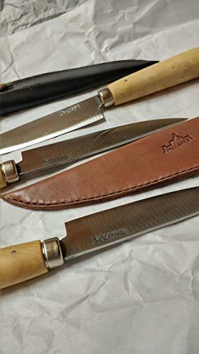 PALLARES SOLSONA Funda de Cuero para Cuchillos 9-10 cm de Hoja, Fabricada a Mano