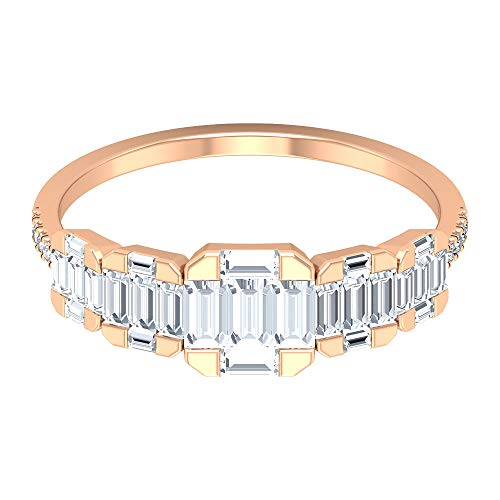 Rosec Jewels 10 quilates oro rosa baguette-shape round-brilliant-shape H-I Diamond