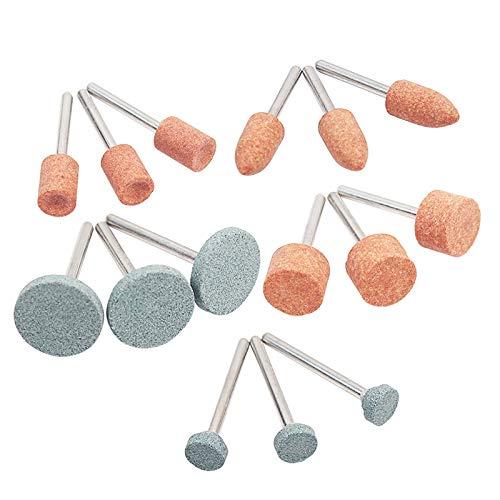 DADEQISH Abrasiva montada Piedra Con 15pcs / set for Herramientas Dremel Rotary muela abrasiva Stone Head Dremel Herramientas Accesorios Accesorios para herramientas