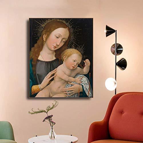 Pintura sobre lienzo carteles e impresiones arte de la pared sala de estar decoración del hogar pintura sin marco 30x40cm