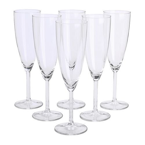 Ikea Svalka Champagne flute Glass, Set of 6