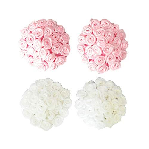 Amosfun - Adhesivo para pezón de rosas, para boda, aniversario, San Valentín o cualquier ocasión especial, color rosa
