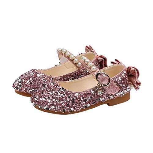 Youpin Zapatos de princesa para niñas Mary Janes Bling Zapatos de fiesta...