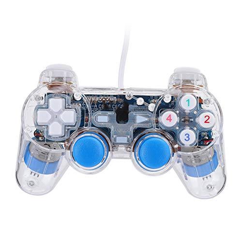 Queen.Y Game Controller Stilvolle Handheld USB Verdrahtete Spielekonsole Transparente Controller für PS2-PC-Computer
