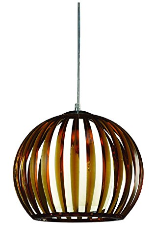 CristalRecord Topacio Lámpara De Techo E27, Ámbar, 30 cm