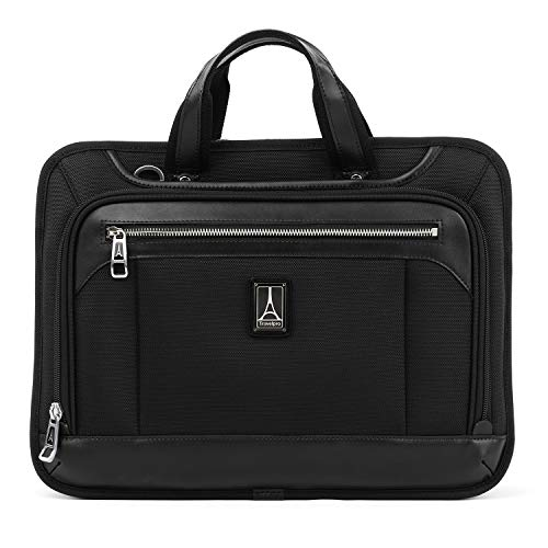 Travelpro Luggage Platinum Elite 16' Expandable Business Briefcase, Shadow Black, One Size