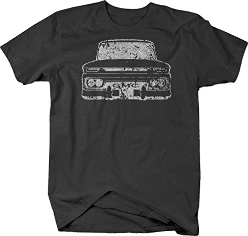 Distressed - GMC 60-66 Pickup Truck C10 Tshirt - XLarge Dark Heather Gray