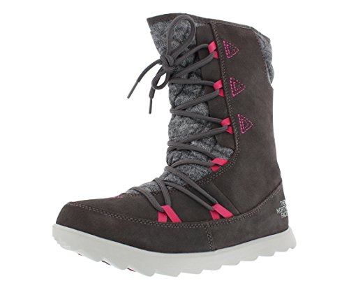 The North Face Thermoball Apres Bootie Womens Shoes Size 5, Color: Plum Kitten Grey/Luminous Pink