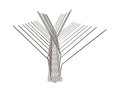 NEU - Taubenabwehr X-FORM - 4 Reihen Spikes auf 50 cm Polycarbonatleiste, Taubenspikes, Vogelabwehr - DIREKT VOM HERSTELLER