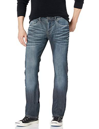 Buffalo David Bitton Men's King Slim Fit Bootcut Jean, Distress Wash, 31x30