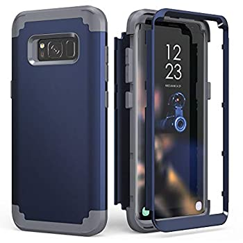 Galaxy S8 Case Galaxy S8 Case Blue for Men Boys IDweel 3 in 2 Shockproof Slim Hybrid Heavy Duty Protection Hard PC Cover Soft Silicone Rugged Bumper Full Body Case Blue