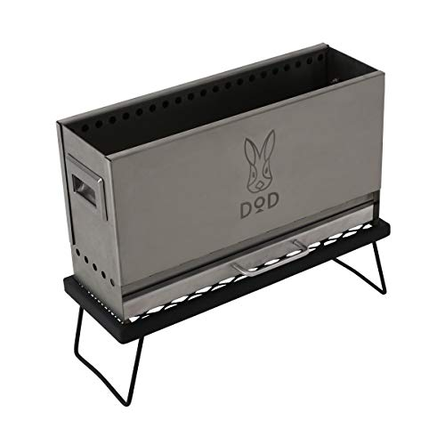 DOD(ディーオーディー) めちゃもえファイヤー 2次燃焼 の見える 焚き火台 耐熱テーブル 収納袋 標準付属 Q3...