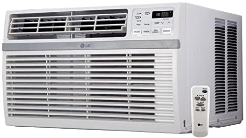 LG LW8016ER Window Air Conditioner with 8,000 Cooling BTU, Remote Controller, 115 Volts, 12.1 EER Auto Restart with 3 Year In-Home Extended Warranty
