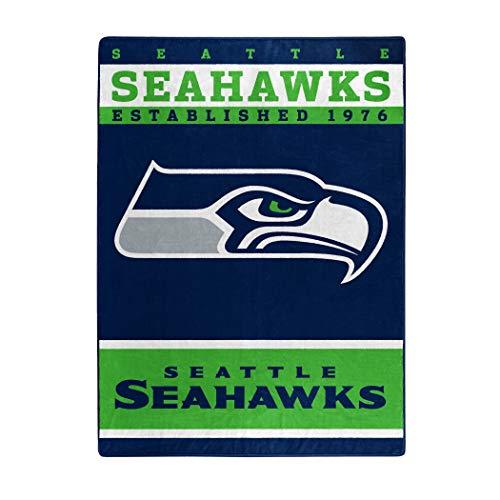 "NFL Seattle Seahawks ""12th Man"" Raschel Throw Blanket, 60"" x 80"""
