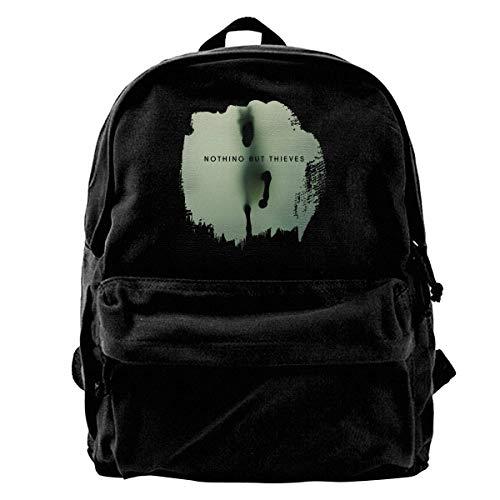 NJIASGFUI Rucksack aus Segeltuch Nothing But Thieves, für Fitnessstudio, Wandern, Laptop, Schultertasche für Männer und Frauen