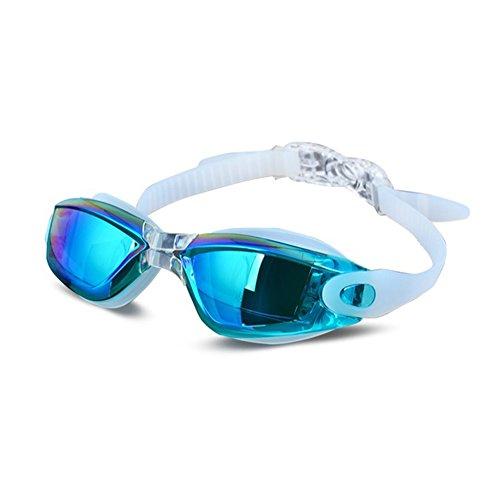 Zwembril, anti-condensdesign, waterdicht en uv-bestendig, materiaal van medische silicone, veilig en zonder gevaar, lens van polycarbonaat, optische kwaliteit, geschikt voor mannen en vrouwen.