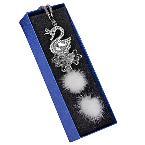 Charm Crystal Swan Car Pendant Interior Accessories for Rear View Mirror Hanging Ornament Charm Car Decorations