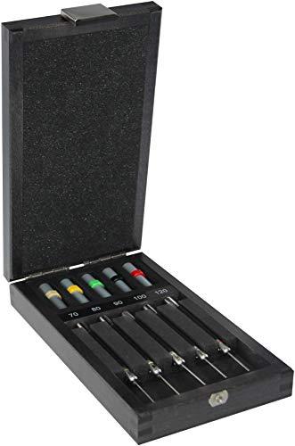 Bergeon 6988 Bandstift-Ausschläger, im Holzetui, für Uhrmacher, Werkzeug zum Kürzen von Armbändern