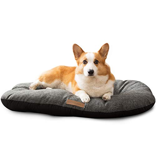 HIPIPET Puppy Bed for Small/Medium Dogs Nonskid Bottom Linen Dog Crate Bed Mat, Breathable Dog Pillow Mattress, Ideal as Dog Bed Insert