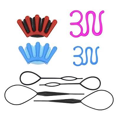 Amazon - Save 40%: 8 Pcs Hair Braiding Tool, DIY Hair Styling Tool Kit,Ponytail Maker Acce…
