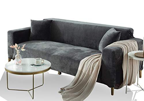 FREEMY Sofabezug Universal Elastic Velvet Sofabezug Geeignet für alle Sofas mit Armlehnen (L-förmiges Ecksofa muss Zwei Sofabezüge kaufen)