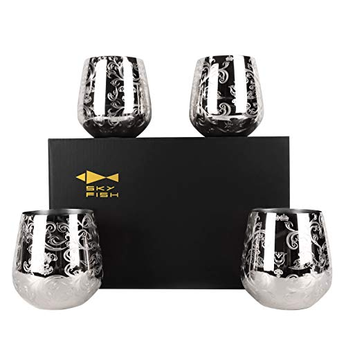 Copas Vino Cristal Tallado Marca SKYFISH