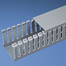 Panduit F2X3LG6 Type F Slotted Wall Wiring Duct, 0.2 in Narrow Finger Slot, 2 in W x 3 in D, PVC