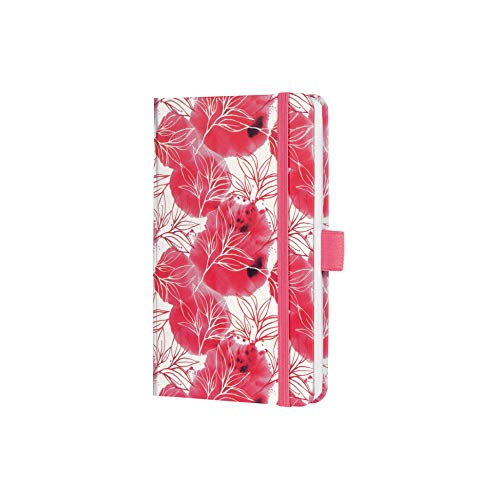 SIGEL J1300 Terminplaner Wochenkalender Jolie 2021, ca. A6, pink, florales Motiv, mit fröhlichem Kalendarium, vielen Infos und praktischen Stickern - weitere Modelle