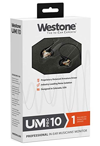 WestoneウェストンUMPro10ユニバーサルイヤホンイヤーモニター1バランスドアーマチュアドライバIEMWST-UMPRO10-2017