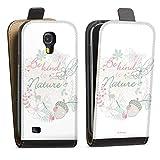 DeinDesign Étui Compatible avec Samsung Galaxy S4 Étui à Rabat Étui magnétique Fée Clochette...