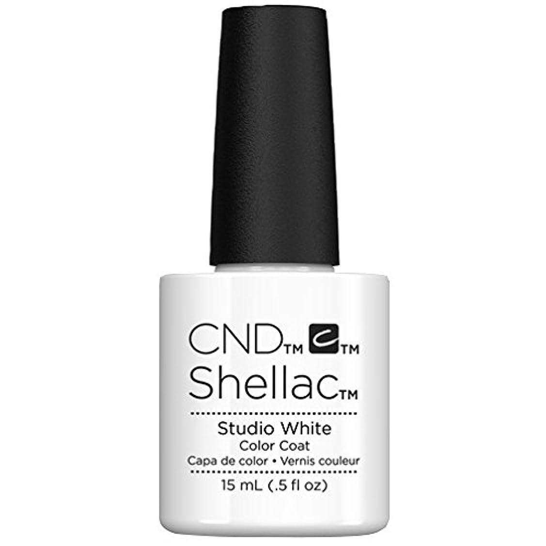 ピストル忌まわしい一貫性のないCND Shellac - Limited Edition! - Studio White - 15ml/0.5oz