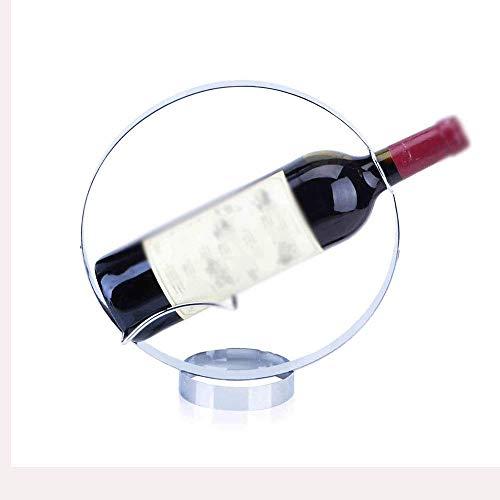 Estante para Vino Tradicional Estante para Botellas Estante para Vino Sala Estante para Vino, Estante para Vino Reinicia, Estante para Vino Decorativo, Estantes para Vino Redondo Metal Chapado en Hie