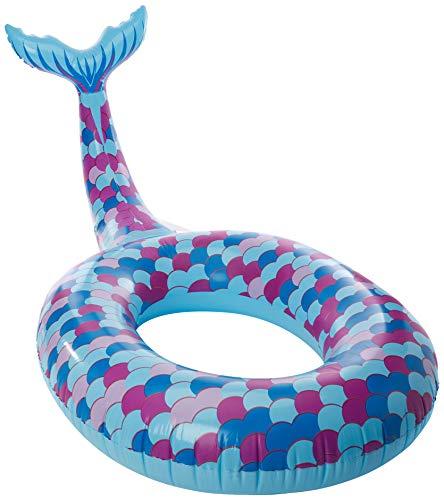 Cadeaux et Concepts Gc0120 Gonflable Big Mermaid Épaisseur 20si Anneau de Taille 118 cm, Multicolore
